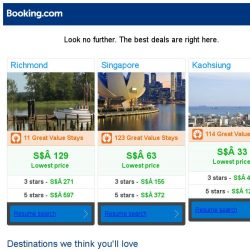 [Booking.com] Richmond, Singapore, or Kaohsiung? Get great deals, wherever you want to go