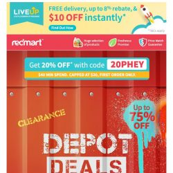 [Redmart] 20% OFF with code 20PHEY!