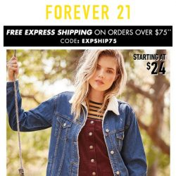 [FOREVER 21] JACKETS starting at $27.90