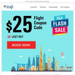 [Zuji] BQ.sg: Last Call - $25 Flight Coupon!
