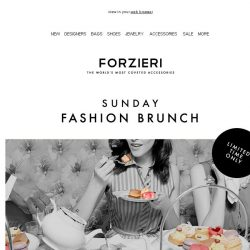 [Forzieri] Sunday Fashion Brunch | 48h Only
