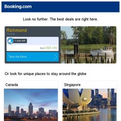[Booking.com] Deals in Richmond from S$ 349
