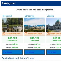 [Booking.com] Richmond, Vancouver, or Victoria? Get great deals, wherever you want to go