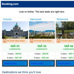 [Booking.com] Victoria, Vancouver, or Richmond? Get great deals, wherever you want to go