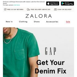 [Zalora] Get your denim fix from GAP!