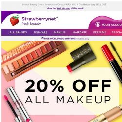 [StrawberryNet] , 20% Off ALL Makeup for 7 Days Only!
