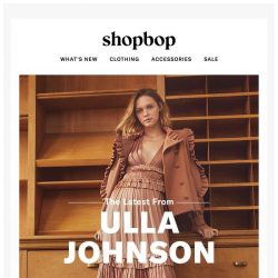 [Shopbop] A must-see fall lineup from Ulla Johnson