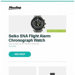 [Massdrop] Seiko SNA Flight Alarm Chronograph Watch, Yamaha 7.2ch 4K HDR Dolby Atmos Receiver (Refurb), FIYTA 3D-Time Automatic Watch and more...