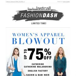 [Last Call] ⏰ Clock's ticking: Up to 75% off women's apparel ENDING