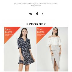 [MDS] Your new wardrobe is calling   Over 24 new styles launched online!