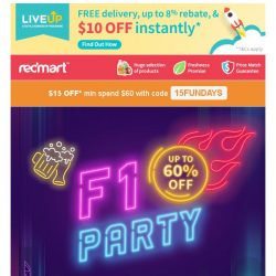 [Redmart] 🚨$15 OFF with code 15FUNDAYS 🚨