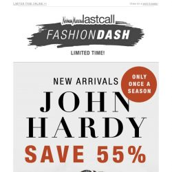 [Last Call] Only once a season JOHN HARDY 55% off