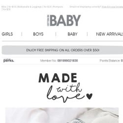 [Cotton On] Baby Essentials made with L❤VE !