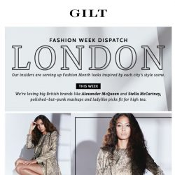 [Gilt] The London Fashion Week style to know and get.