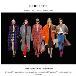 [Farfetch] Need to make a good first impression? Shop coats