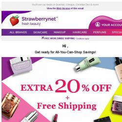 [StrawberryNet] LAST DAY to get your Extra 20% Off + Free Shipping!