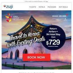 [Zuji] BQ.sg: All-in 4D3N Korea from $729!
