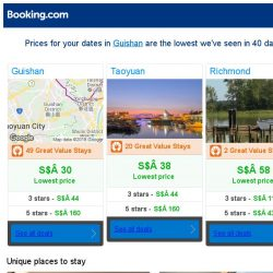 [Booking.com] Prices in Guishan dropped again – act now and save more!