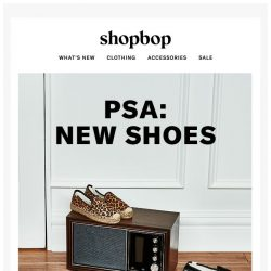 [Shopbop] Fall-ready shoes? Roger that