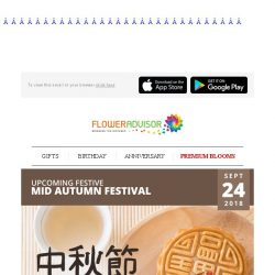 [Floweradvisor] Mid-Autumn Festival: Express Your Gratitude by Sharing Mooncakes to Loved Ones!
