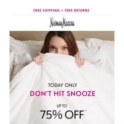 [Neiman Marcus] 75% off today only! Get fall ready