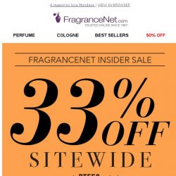 [FragranceNet] TODAY ONLY - 33% OFF
