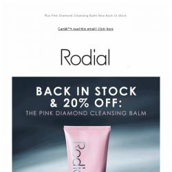 [RODIAL] Enjoy 20% Off Cleansers ✨