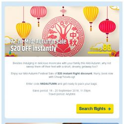 [cheaptickets.sg] 🏮Mid-Autumn Festival Flight Sale   $20 OFF to all cities   $40 OFF to Korea   $100 OFF to Darwin