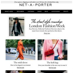 [NET-A-PORTER] What the style set is wearing at London Fashion Week