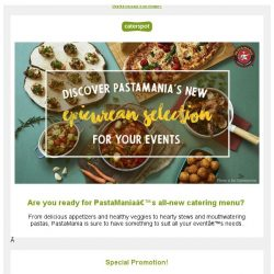 [CaterSpot] Discover Pasta Mania's new epicurean catering menu