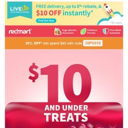 [Redmart] You've got a coupon! Use code 20P0918 today!