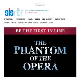 [SISTIC] Priority Booking to The Phantom of the Opera - Sign up now!