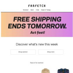 [Farfetch] New in + Free Shipping ends tomorrow
