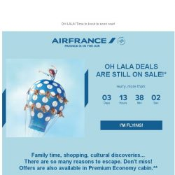 [AIRFRANCE] Oh LaLa Deals extension, don't miss!