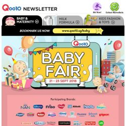 [Qoo10] Hey Parents! Baby Fair Last Day! Grab $30 Coupon & Free Gifts Here! Spend $250 on Abbott Official & Stand A Chance To Win a Google Home worth $189!
