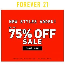 [FOREVER 21] PRICE DROP: 300+ Styles Added to Sale!