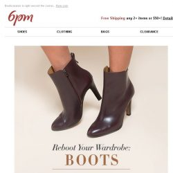 [6pm] Up to 50% off Boots!