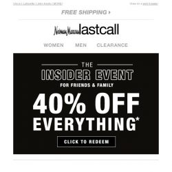 [Last Call] Save 40% off everything, including these best sellers