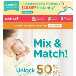 [Redmart] $18 OFF to beat the Monday blues!