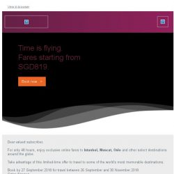 [Qatar] Exclusive online-only offers. Fares starting from SGD819.