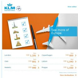 [KLM] See a lot of Europe in just a couple of days