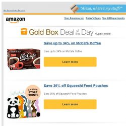 [Amazon] Save up to 34% on McCafe Coffee