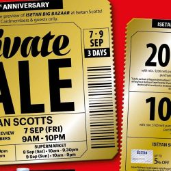 Isetan Scotts: Private Sale with 20% Beauty Bonus Voucher, Cut Coupon Deals, Up to 50% OFF Selected Coach Items & More!