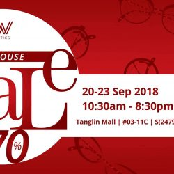 W Optics: Warehouse Sale with Up to 70% OFF on International Designer Frames & Sunglasses