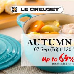 Le Creuset: Autumn Sale with Up to 64% OFF Selected Cast Iron, Stoneware & Silicone Items at Takashimaya
