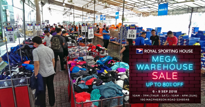 Royal Sporting House: Mega Warehouse Sale with Up to 80% OFF