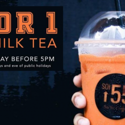 Soi 55: Get 1-for-1 Thai Milk Tea Every Weekday Before 5pm!