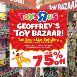 "Toys ""R"" Us: Geoffrey's Toy Bazaar is Back with Up to 75% OFF Toys & Merchandise!"