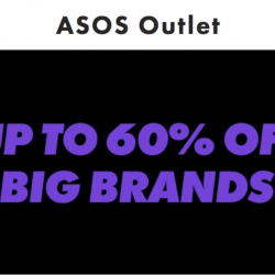 ASOS: Outlet Sale with Up to 60% OFF Big Brands like Cheap Monday, PUMA, Missguided, French Connection & More!