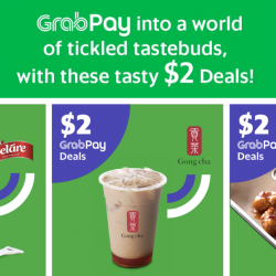 GrabPay: Enjoy $2 Tasty Deals at Geláre, Gong Cha & Wing Zone with GrabPay!